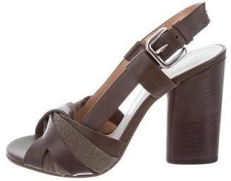Maison Margiela Leather Slingback Sandals w/ Tags
