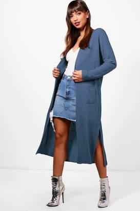boohoo Amanda Half Rib Sleeve Maxi Cardigan $40 thestylecure.com