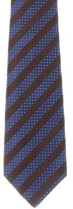 Kiton Striped Pattern Silk Jacquard Tie