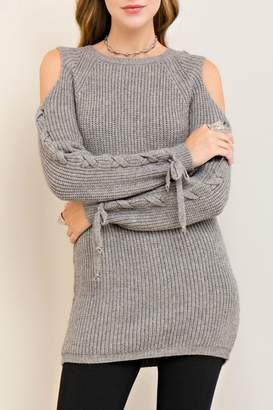 Entro Cold Lace Up Sweater