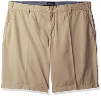 Nautica Men's Big and Tall Cotton Twill Flat Front Chino Short