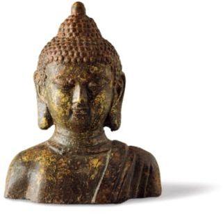 Gump's Cast-Iron Buddha Bust