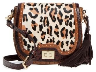 Brahmin Mini Sonny Genuine Calf Hair & Leather Crossbody Bag - Brown $345 thestylecure.com