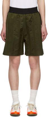 Maison Margiela Green and Black Washed Nylon Shorts