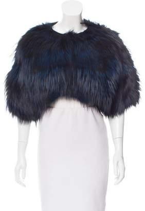 Oscar de la Renta Fox Fur Short Sleeve Bolero w/ Tags
