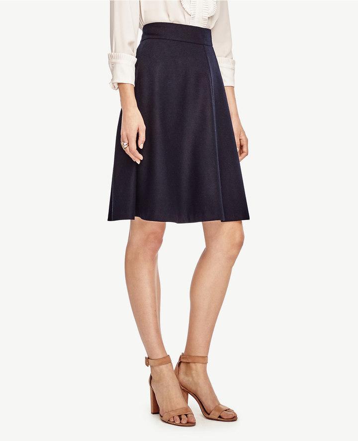 Ann TaylorWool Blend Circle Skirt