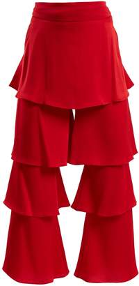 Osman Felix tiered satin trouser