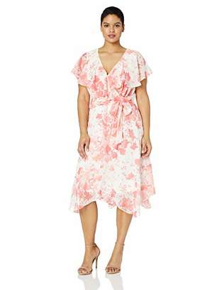 Jessica Howard Plus Size Womens Surplus Fit and Flare Dress