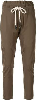 Bassike dropped crotch track trousers