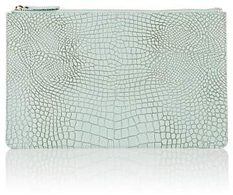 Barneys New York Men's Crocodile-Embossed Leather Large Zip Pouch