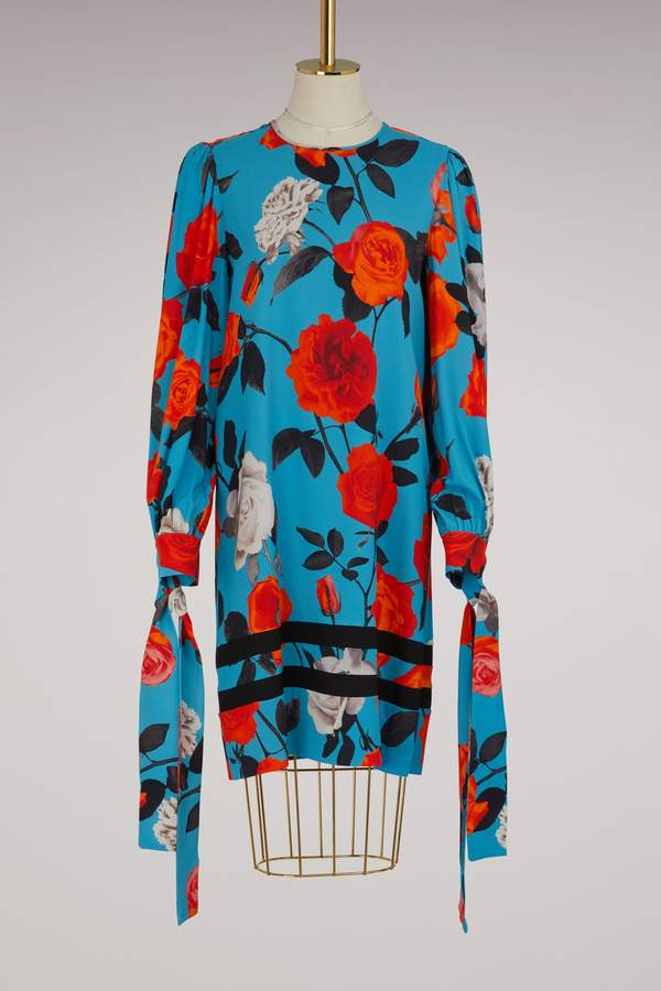 Msgm Flowers printed dress
