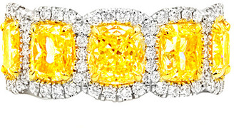Diana M. Fine Jewelry Platinum & 18K 6.53 Ct. Tw. Diamond Ring
