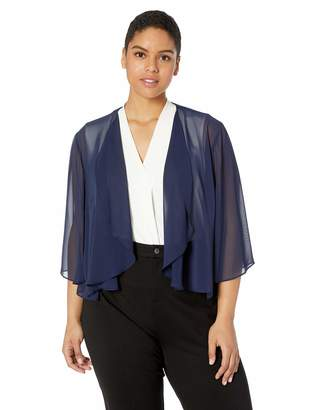 Alex Evenings Women's Plus-Size Georgette Pointed Hem Jacket/Cover-up