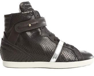 Barbara Bui Python Wedge Sneaker