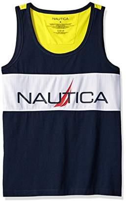 c1d14236c3f5a Nautica Men s Big Mesh Tank Top with Logo Print