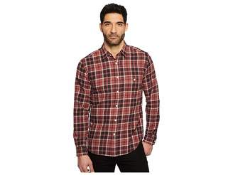 7 For All Mankind Long Sleeve Brushed Plaid Shirt Men's Clothing