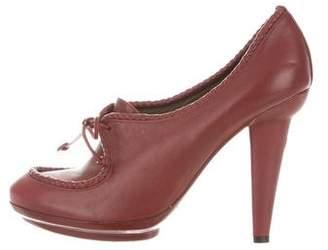 Bottega Veneta Leather Platform Booties