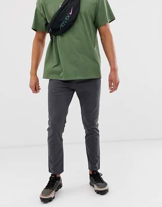Asos Design DESIGN slim chinos with elastic waist in washed black