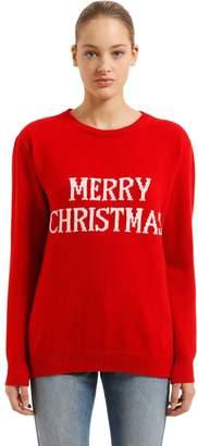 Alberta Ferretti (アルベルタ フェレッティ) - ALBERTA FERRETTI MERRY CHRISTMAS オーバーサイズ ウール混セーター