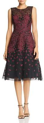 BCBGMAXAZRIA Embroidered Tulle Dress