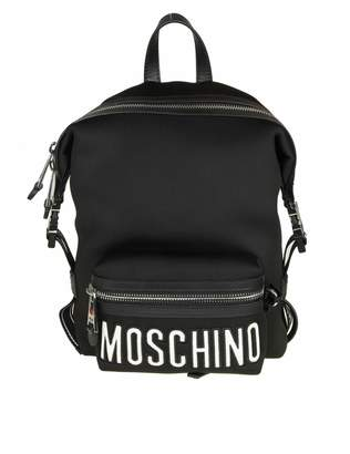 Moschino Backpack In Neoprene With Black Leather Inserts