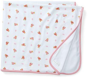 Ralph Lauren Girl Pink Bear Reversible Blanket