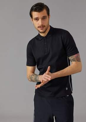 Giorgio Armani Polo Shirt In Stretch Cotton Micro Pique