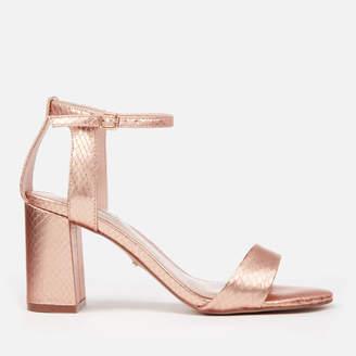 Carvela Women's Gigi Snake Print Block Heeled Sandals