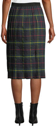 Romeo & Juliet Couture Tartan Pleated Midi Skirt