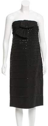 Valentino Sequin-Embellished Strapless Dress w/ Tags