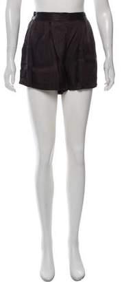 Steven Alan High-Rise Satin Mini Shorts