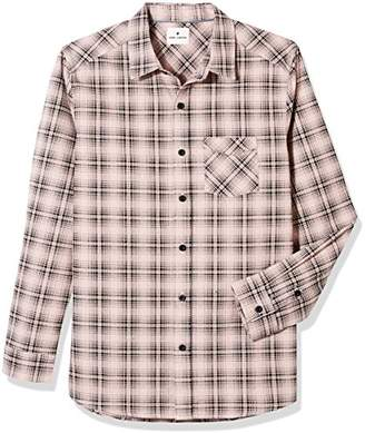 Rebel Canyon Young Mens Soft Plaid Long Sleeve Button Front Shirt