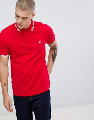 Fred Perry twin tipped polo in red