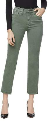 Good American Good Curve Straight Jeans in Olive007