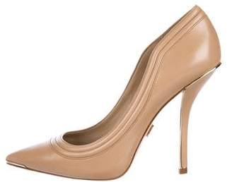 Michael Kors Leather Pointed-Toe Pumps