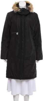 MICHAEL Michael Kors Fur-Trimmed Knee-Length Down Coat