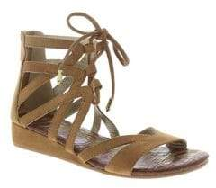 Sam Edelman Girl's Danica Faux-Suede Zippered Sandals