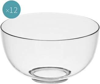 clear Gold Plast Plastic Dessert Bowl, Small (Set of 12),