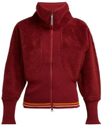 adidas by Stella McCartney Train Fleece Performance Jacket - Womens - Burgundy