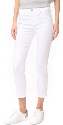 7 For All Mankind Roxanne Ankle Jeans with Raw Hem $169 thestylecure.com