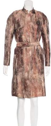 Reed Krakoff Metallic Trench Coat