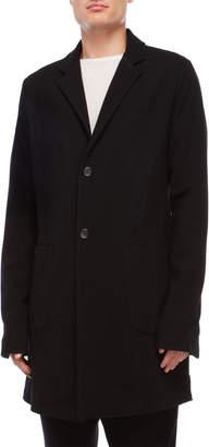 Primordial Is Primitive Wool Patch Pocket Long Coat