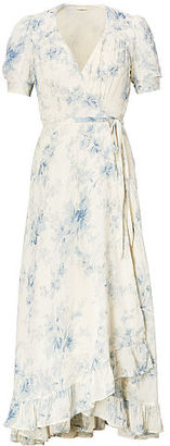 Ralph Lauren Denim & Supply Floral-Print Gauze Wrap Dress $145 thestylecure.com