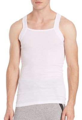 2xist Two-Pack Ribbed Cotton Tank Top