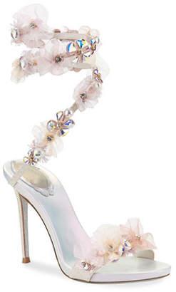 Rene Caovilla Snake-Coil Embellished Sandals