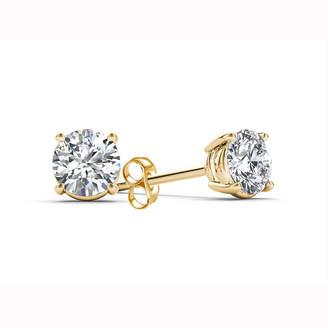 FINE JEWELRY Classic Collection 1/2 CT. T.W. Genuine White Diamond 10K Gold 3.8mm Stud Earrings