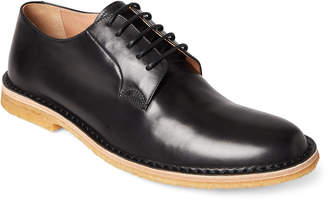 Dries Van Noten Black Crepe-Sole Leather Oxfords