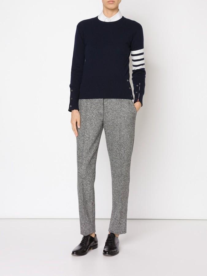 Thom Browne 4-bar stripe cashmere jumper