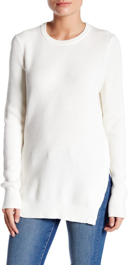 Equipment Crew Neck Snap Button Hem Sweater 2