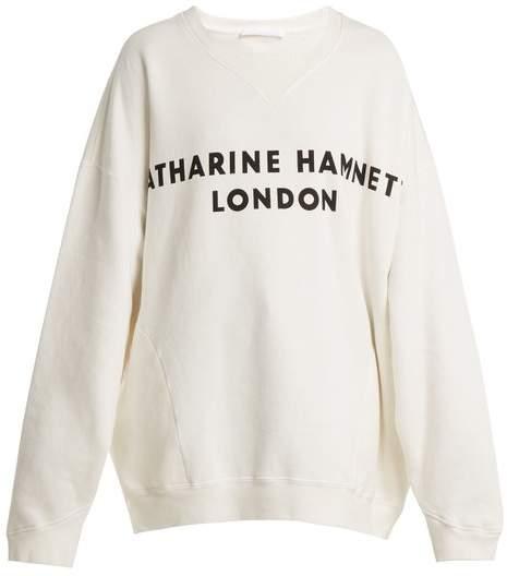 Vince logo-print cotton sweatshirt